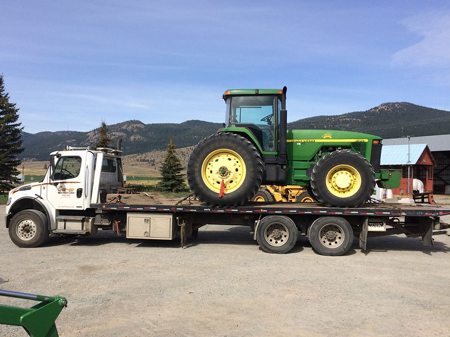 farm equipment towing kamloops bc