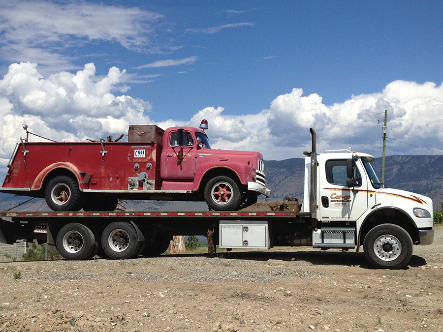 large truck flat bed towing kamloops bc