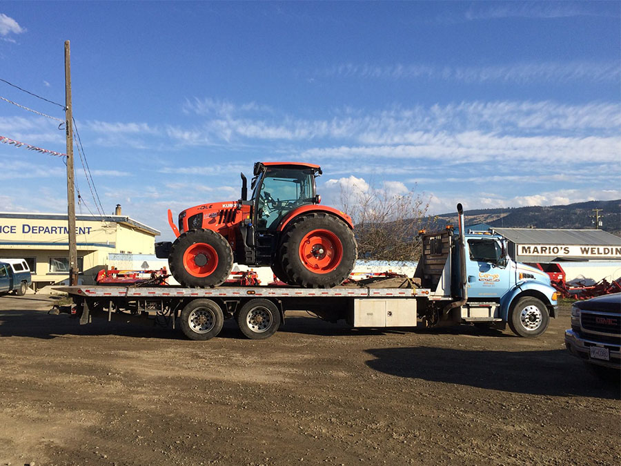 large equipment towing in kamloops bc